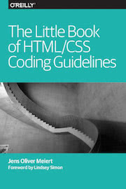 "The cover of ""The Little Book of HTML/CSS Coding Guidelines."""