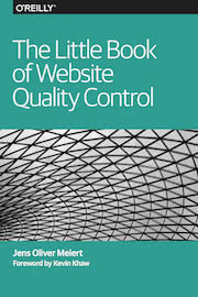 "The cover of ""The Little Book of Website Quality Control."""