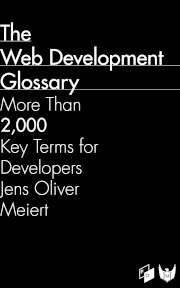 "The cover of ""The Web Development Glossary."""