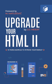 "The cover of ""Upgrade Your HTML II."""